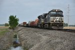 NS 9291 Races a eb freight down the ex Conrail.